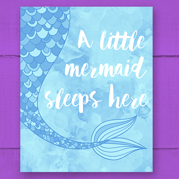 Free Printable 'A Little Mermaid' Poster – Blue