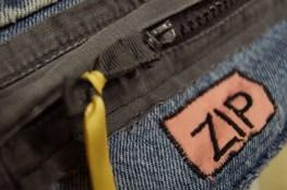 Detail of zip pull.