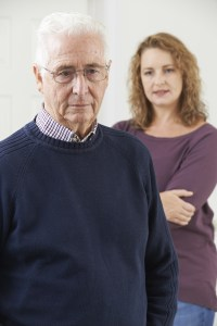 Caregiver upset about person with dementia able to remember some items and forgetting other information.
