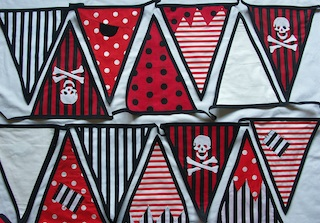 pirate design beautiful bunting