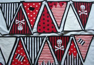 pirate design beautiful bunting