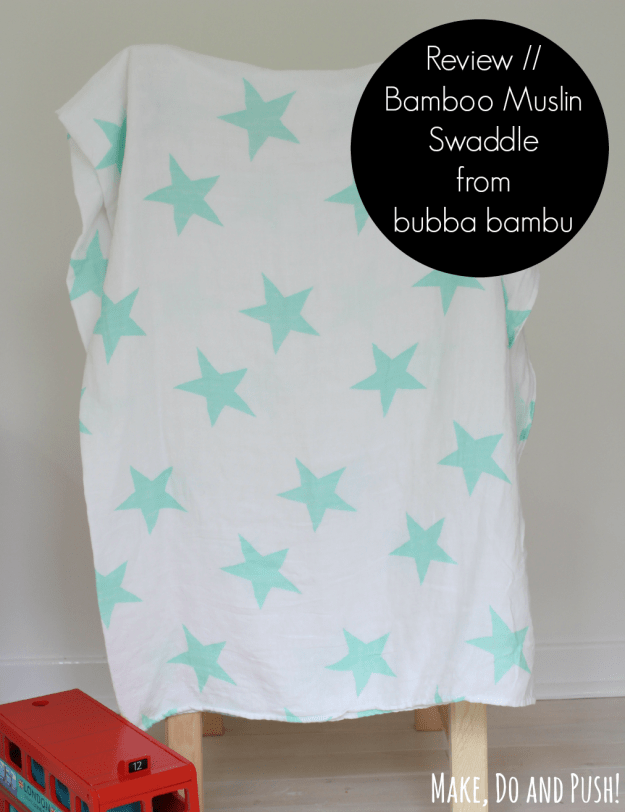 Review // Bamboo Muslin Swaddle from bubba bambu