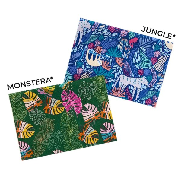 jungle monstera mask fabric
