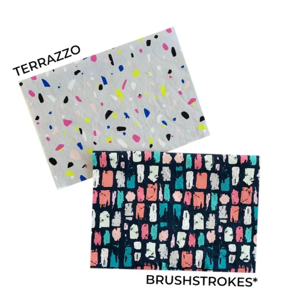 terrazzo and brushstroke mask fabric