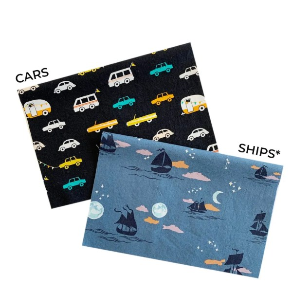 cars and ships mask fabric