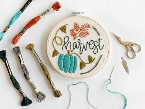 harvest embroidery tutorial