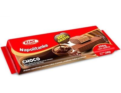 NAPOLITANKE CHOCO KENT 200 g + 20 g GRATIS