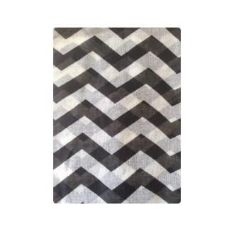 imagen de fular zigzag negro