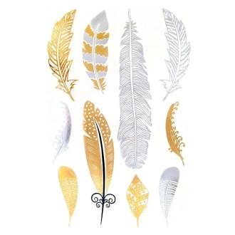 comprar tatuajes joya plumas