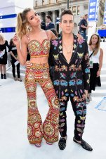 Stella Maxwell and Jeremy Scott in Moschino