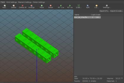 Slic3r е програма за 3D принтиране.