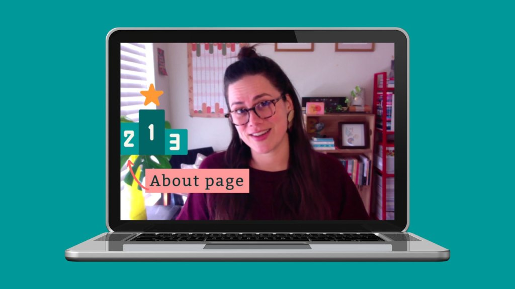 Renee teaching writing your About page