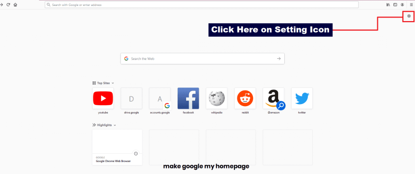 make google my homepage with Firefox01