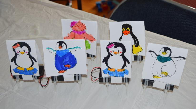 Dancing Penguin Robots!