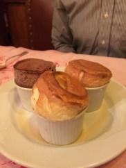 An impressive collection of soufflés for dessert.