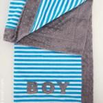 How To Make Sew A Minky Baby Blanket Self Binding Blanket Tutorial