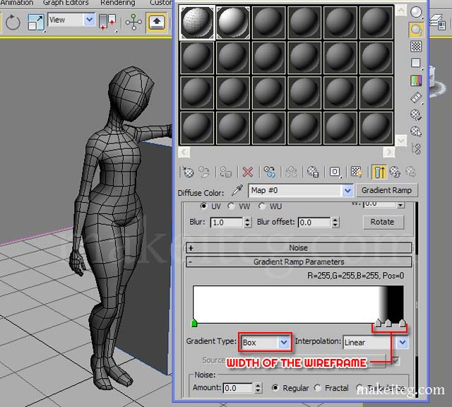 wireframe rendering techniques in 3ds max