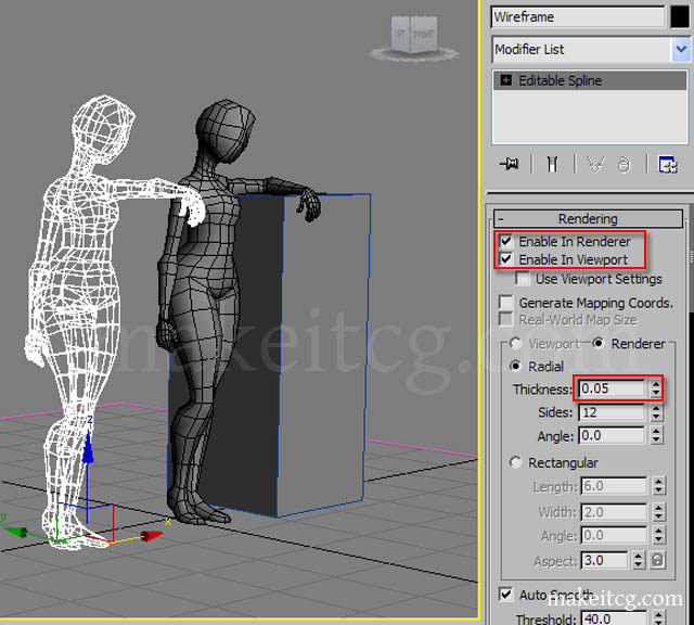 wireframe rendering techinques in 3ds max