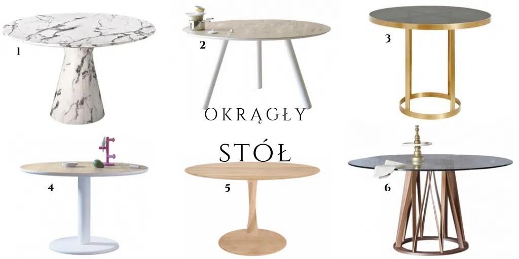 stół z marmurowym blatem do jadalni