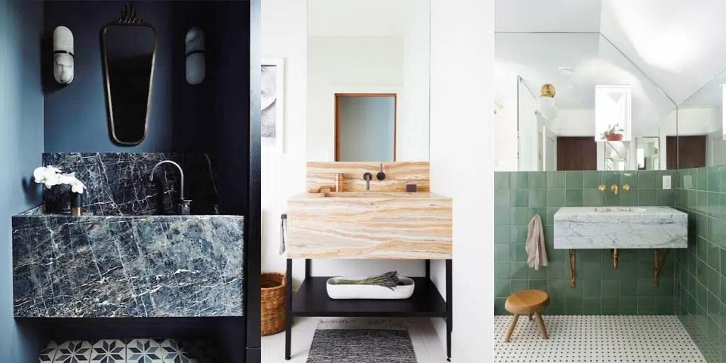 umywalka łazienkowa na konsoli marmurowa