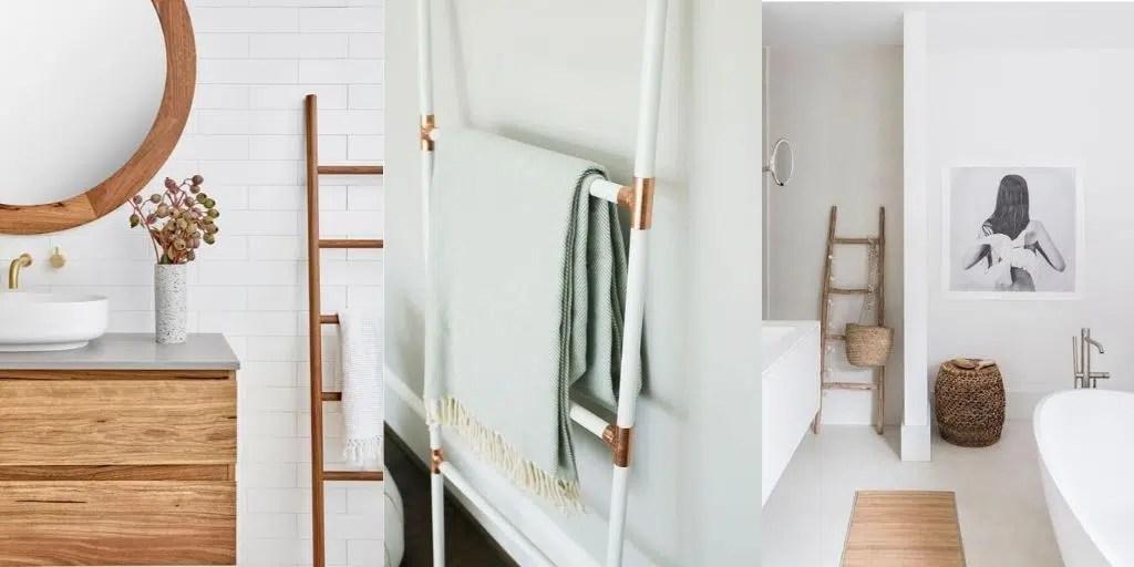 drabinka do łazienki na ręczniki