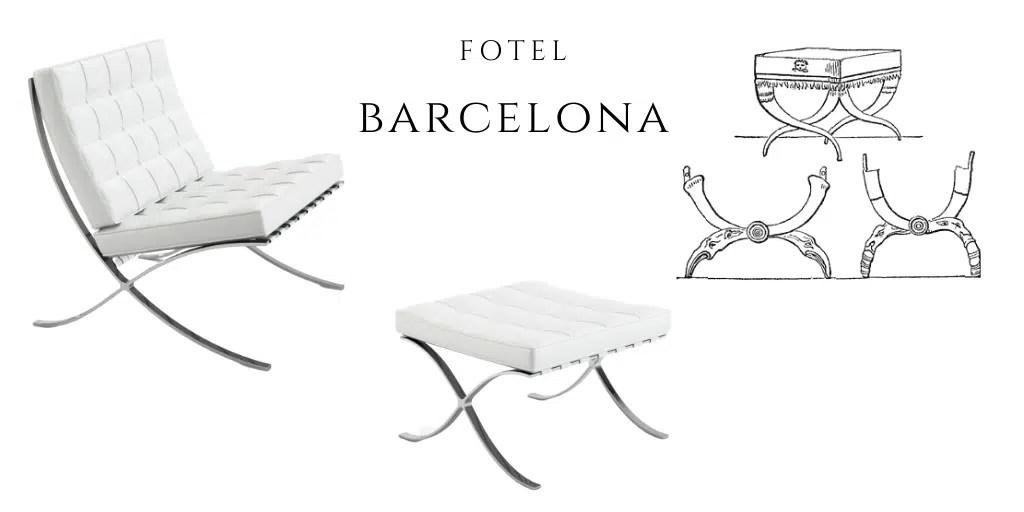 krzesło kurulne fotel barcelona podnóżek fotel władców królewski