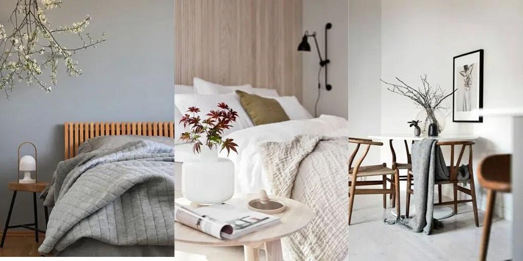 japoński styl wnętrz wschodni sypialnia japandi