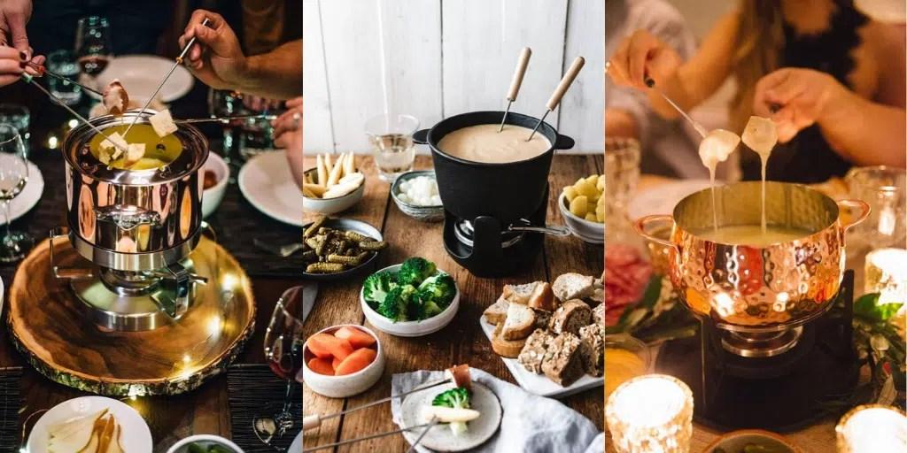 co ugotować na kolację z przyjaciółmi fondue serowe
