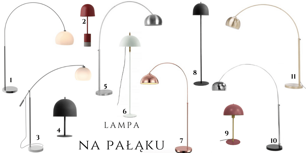 metalowa prosta lampa stojąca elegancka do salonu