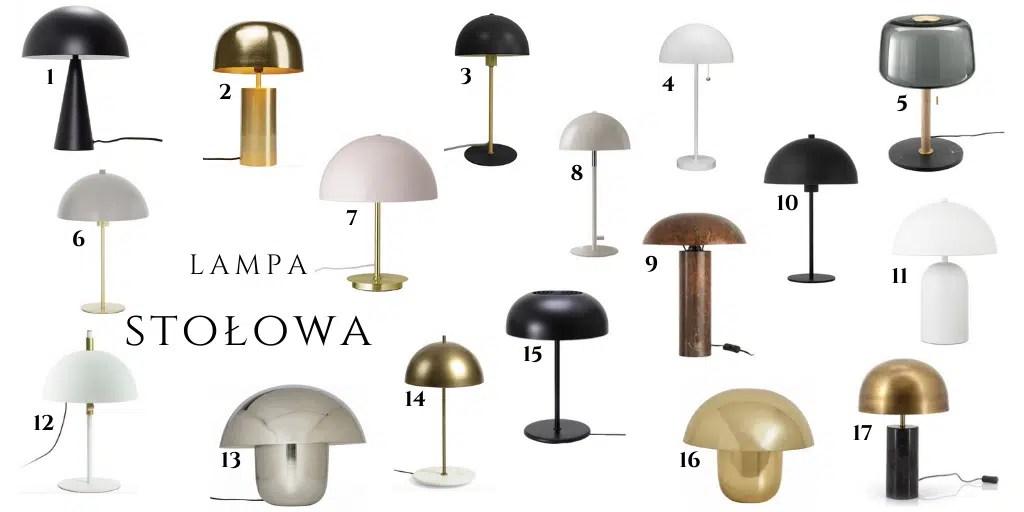 lampa z półokrągłym kloszem jak panthella table lampa z okrągłym kloszem i podstawą modna
