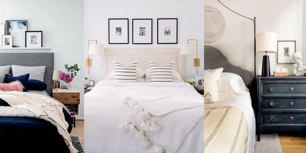 jasna elegancka sypialnia w stylu nowojorskim