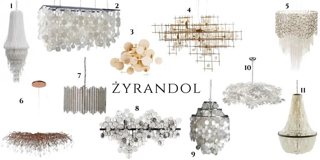 żyrandole z muszli z masy perłowej z łańcuszków żyrandol w stylu boho