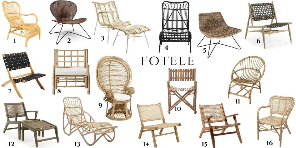 fotele z naturalnych materiałów na balkon taras ogród meble zewnętrzne