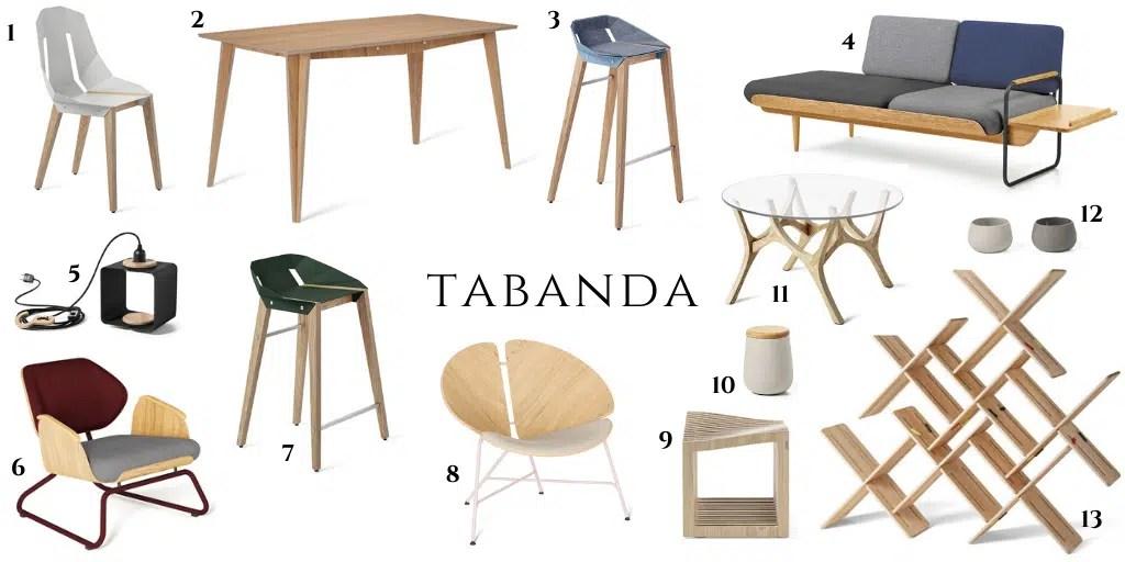 Dodatki do wnętrz polskich marek tabanda meble designerskie origami krzesło drewniane