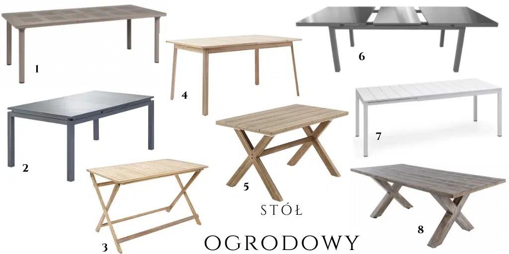 stół ogrodowy rozkładany rozciągany prostokątny zewnętrzny drewniany aluminiowy