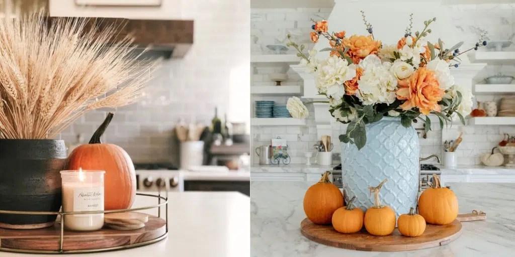 pomarańczowa dynia ozdoby w kuchni jak zaaranżować dynię