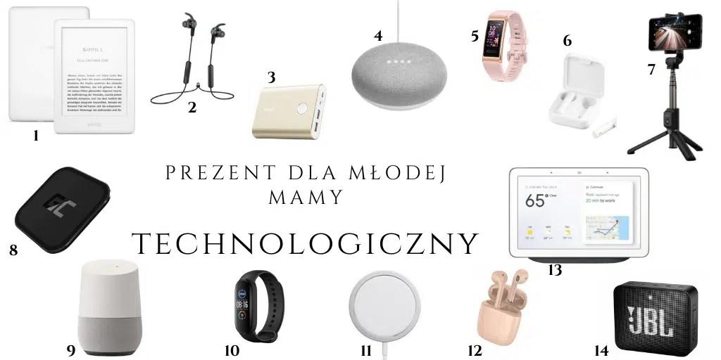 technologiczne gadżety dla młodych rodziców prezent z okazji narodzin dziecka dla mamy czytnik ebooków bezprzewodowe słuchawki głośnik opaska na rękę