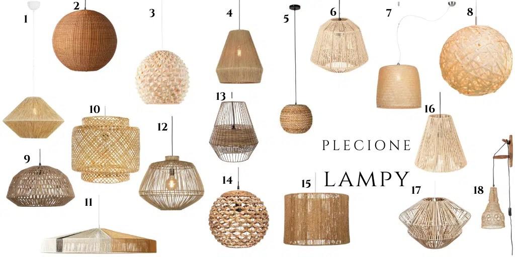 lampy w stylu boho rattanowe bambusowe z wikliny