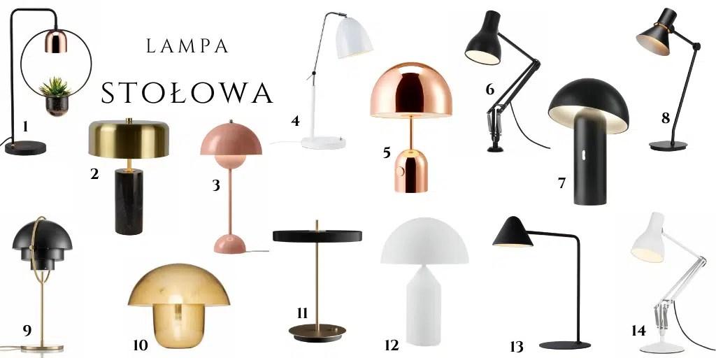lampa na stolik obok fotela kanapy z metalowym kloszem ze sklepu lampy.pl