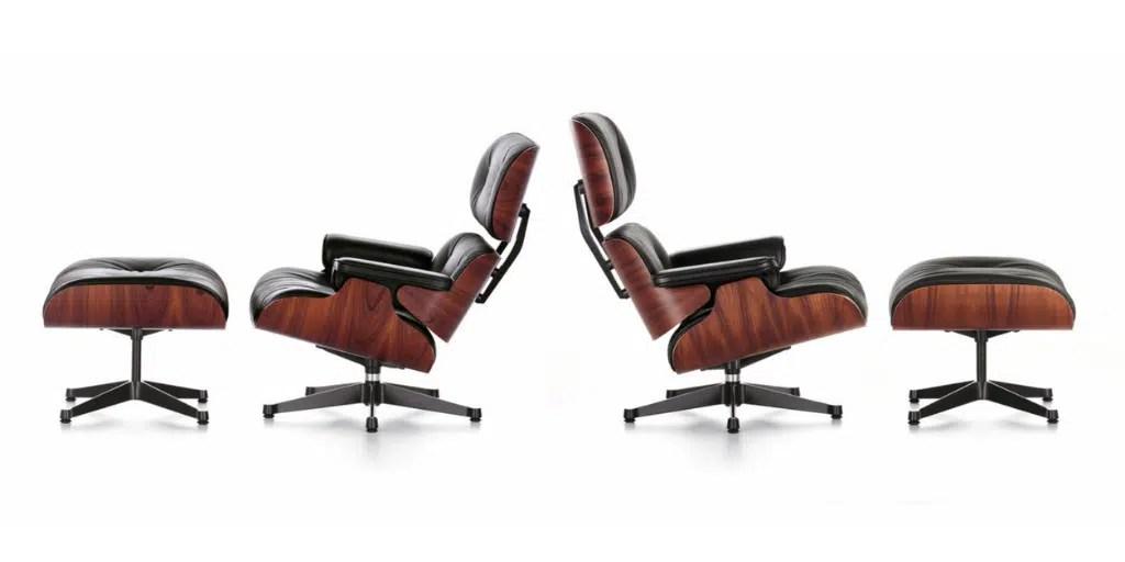 dwa rozmiary krzesła z podnóżkiem lounge chair