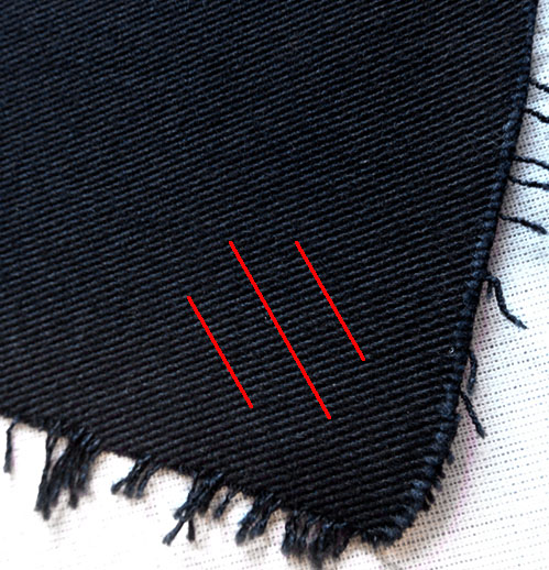 The correct way of stitching and cutting