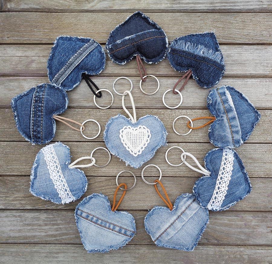 DIY denim hearts