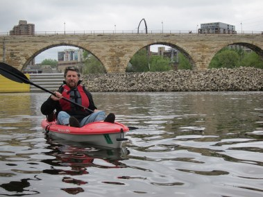 Kayaking by Stone Arch Bridge