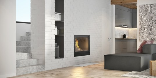 white-brick-fireplace-marble-stairs