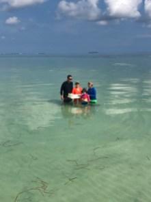 Sandbar pic with family