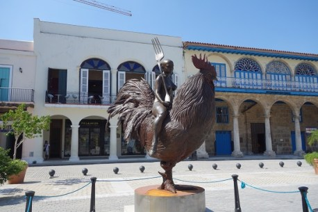 Sculpture in a Square in Havana