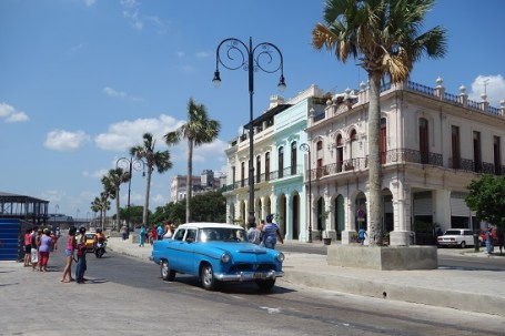 Street in Havana with Vintage Car