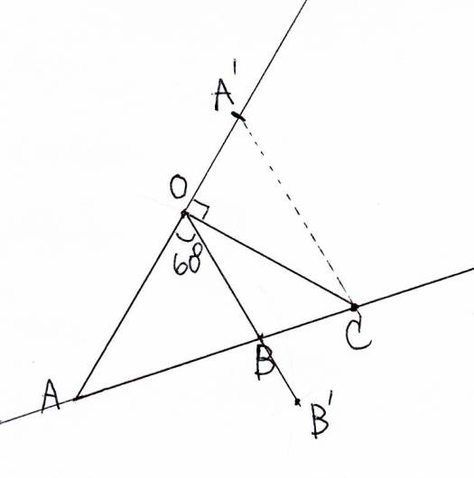 点Cの位置を図形的に確認する。