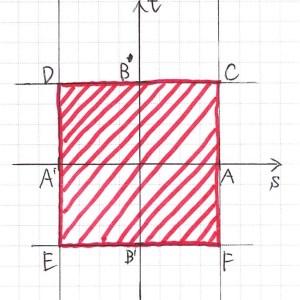 「平面ベクトルの点Pの存在範囲−10」のグラフ