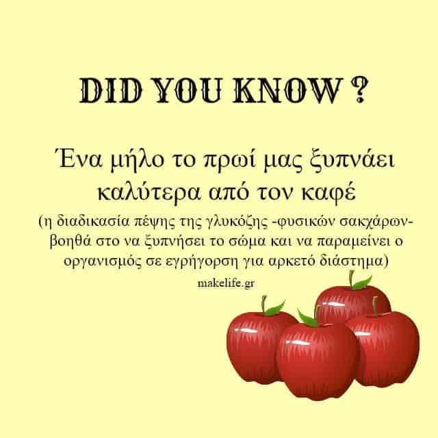 μήλα και πρωινό ξύπνημα